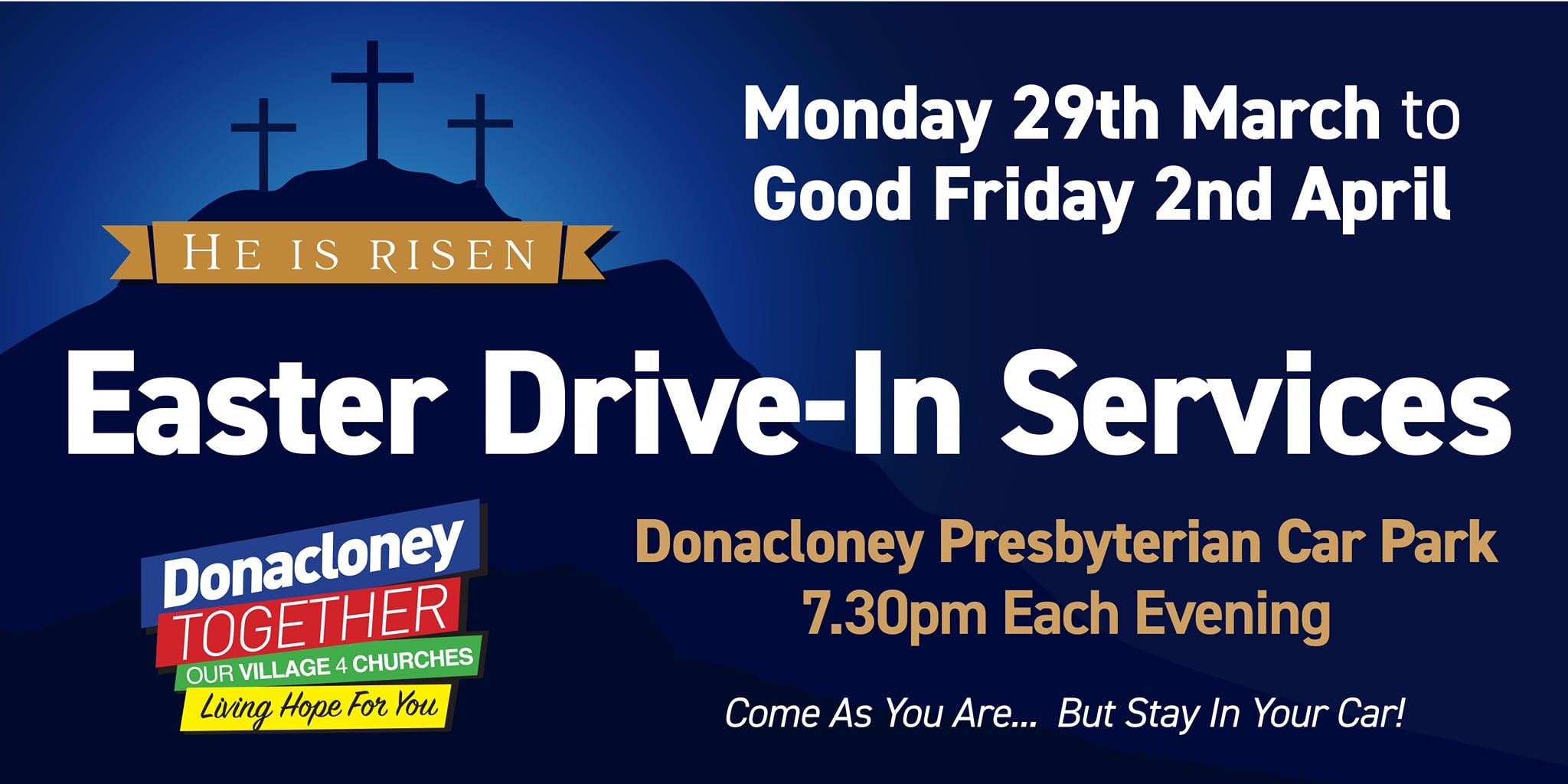 easter drive in services